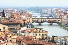 Ponte Vecchio in Florenz, Italien Lizenzfreies Stockfoto