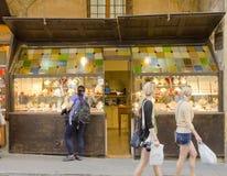 Ponte Vecchio, Florenz, Italien Stockbilder