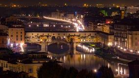 Ponte Vecchio in Florenz, Italien Lizenzfreie Stockfotos