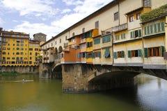 Ponte vecchio i Firenze, Italien Arkivbild