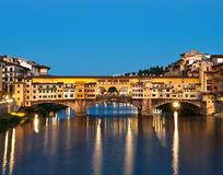 Ponte Vecchio i Florence. Arkivbild