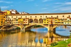 Ponte Vecchio i Florence arkivbild