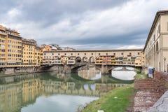 Ponte Vecchio i Florence Royaltyfri Fotografi