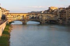 Ponte Vecchio i Florence - Italien Royaltyfri Fotografi