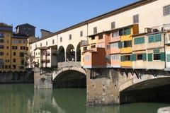 Ponte Vecchio i Florence - Italien Fotografering för Bildbyråer
