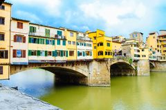 Ponte Vecchio most w Włochy, Florencja Zdjęcia Stock