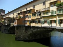 Ponte Vecchio n.1. The famous historical old bridge over Arno in Florence (Italy Stock Photography