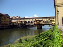 Ponte Vecchio n.2. Famous historical old bridge over Arno in Florence (Italy Stock Images