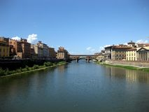 Ponte Vecchio n.3. Famous historical old bridge over Arno in Florence (Italy Royalty Free Stock Photo