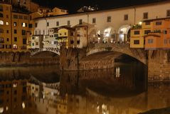 Ponte vecchio at night. Florence, italy Royalty Free Stock Photography