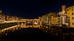 Ponte Vecchio at night in  Florence, Italy Royalty Free Stock Photos