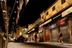 On the Ponte Vecchio by night Royalty Free Stock Photo