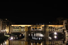 Ponte Vecchio by Night, Florence Royalty Free Stock Photos