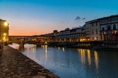 The ponte vecchio by night