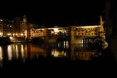 Ponte Vecchio (Old Bridge). The Ponte Vecchio (Italian for Old Bridge): medieval bridge over Arno River, Florence, Italy, noted for having shops built along it royalty free stock photography