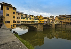 Ponte Vecchio, the old bridge at Florence Royalty Free Stock Photography