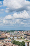 The Ponte Vecchio (Old Bridge) in Florence, Italy. Royalty Free Stock Images