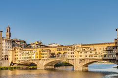 The Ponte Vecchio (Old Bridge) in Florence, Italy. Royalty Free Stock Image
