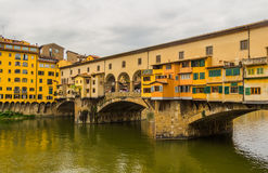 The Ponte Vecchio (Old Bridge) in Florence, Italy Royalty Free Stock Images
