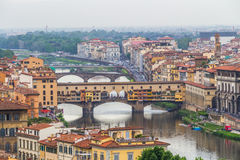 The Ponte Vecchio (Old Bridge) in Florence, Italy Stock Photography