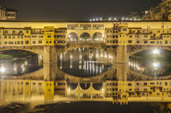 The Ponte Vecchio (Old Bridge) in Florence, Italy. Stock Image