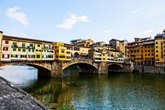 Ponte Vecchio in Florence. Ponte Vecchio, old bridge, in Florence, Italy Royalty Free Stock Photography