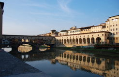 Ponte Vecchio or the Old Bridge, Florence, Italy Royalty Free Stock Photography