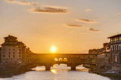 Ponte Vecchio (Oude Brug) in Florence, Italië. Royalty-vrije Stock Foto