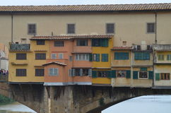 Ponte Vecchio over Arno River Stock Image
