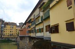 Ponte Vecchio over Arno River Stock Photo