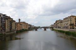 Ponte Vecchio over Arno River Royalty Free Stock Photos
