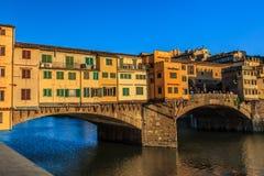 Ponte Vecchio Bridge, Italy. Ponte Vecchio over Arno river in Florence, Italy Royalty Free Stock Photos