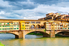 Ponte Vecchio over Arno river in Florence Stock Photography