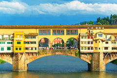 Ponte Vecchio over Arno river in Florence Stock Photo