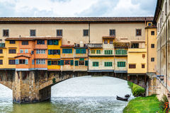 Ponte Vecchio over Arno river in Florence Stock Images