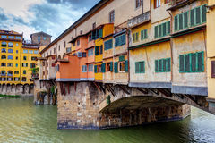 Ponte Vecchio over Arno river in Florence Royalty Free Stock Photos