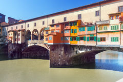 Ponte Vecchio over Arno river in Florence, Italy Stock Photos