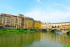 Ponte Vecchio over Arno river in Florence Royalty Free Stock Photo
