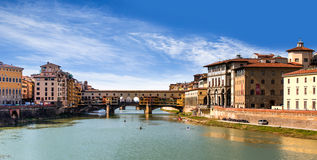Ponte Vecchio over Arno river in Florence Royalty Free Stock Image