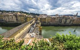 Ponte Vecchio over Arno river in Florence, Italy Stock Images
