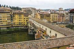Ponte Vecchio over Arno river in Florence, Italy Stock Photos