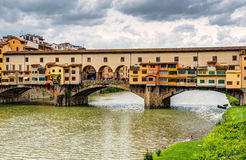 Ponte Vecchio over Arno river in Florence, Italy Royalty Free Stock Photo