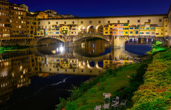 Ponte Vecchio over Arno River in Florence, Italy Stock Photography