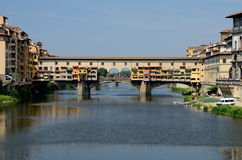 Ponte Vecchio over Arno river, Florence, Tuscany Stock Photos
