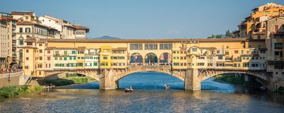Ponte Vecchio over Arno river in Florence, Tuscany Italy Stock Photo