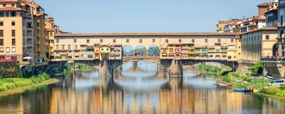 Ponte Vecchio over Arno river in Florence, Tuscany Italy Stock Image