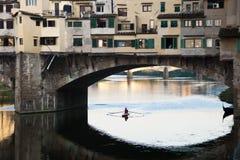 Ponte Vecchio over de Rivier Arno, Florence Stock Foto's