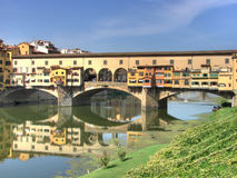 Ponte Vecchio and river Arno hdr Stock Photo