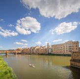 Ponte Vecchio from St Trinity bridge, Florence Stock Images