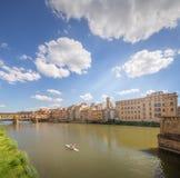 Ponte Vecchio from St Trinity bridge, Florence Stock Images